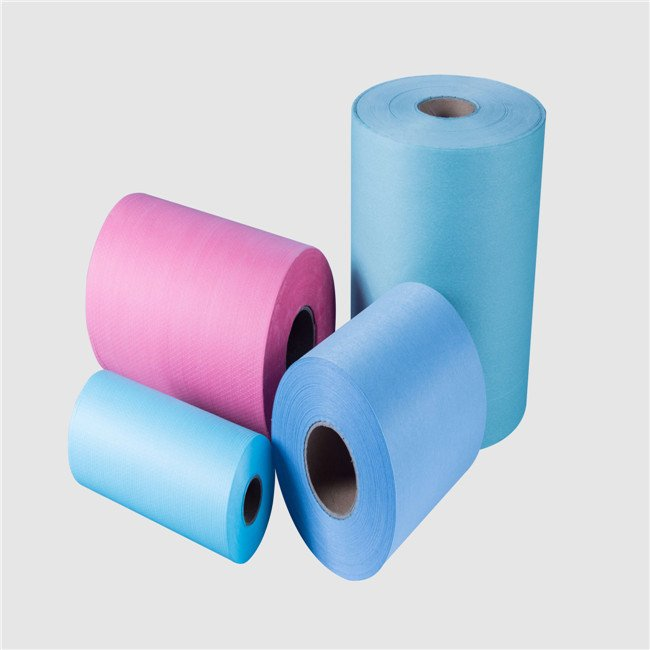 45%pp/pet 55%woodpulp hospital wipe spunlace nonwoven wash cloth fabric rolls