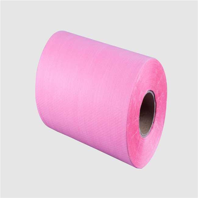 china factory produce pulp spunlace nonwove for medical wiping cleaning wash clorh material